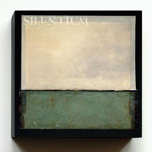 Janet Jones   Silentium:Silence book cover, encaustic