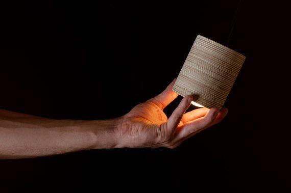 Mini C-luz. Lámpara de techo cilíndrica realizada por minimalmood