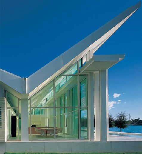Richard Meier for the design of their waterfront house in Naples, Florida