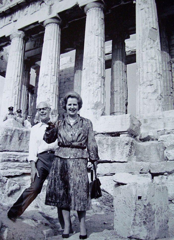 Margaret Tacher en el Partenón