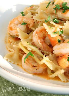 Shrimp and Zucchini with Bowties in Light Tomato Sauce | The o'jays ...