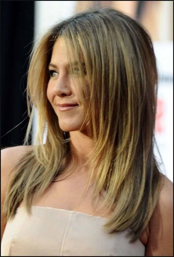 Lange haare mit stufenschnitt