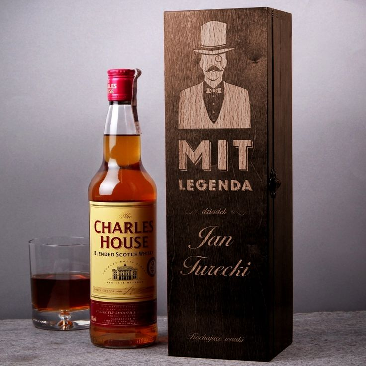 Skrzynka personalizowana na whisky LEGENDA