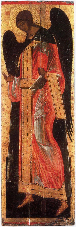 Gabriel the Archangel (of Deesis) Century: XVI Storage location: Vologda Regional Museum Size: 177 x 58 cm