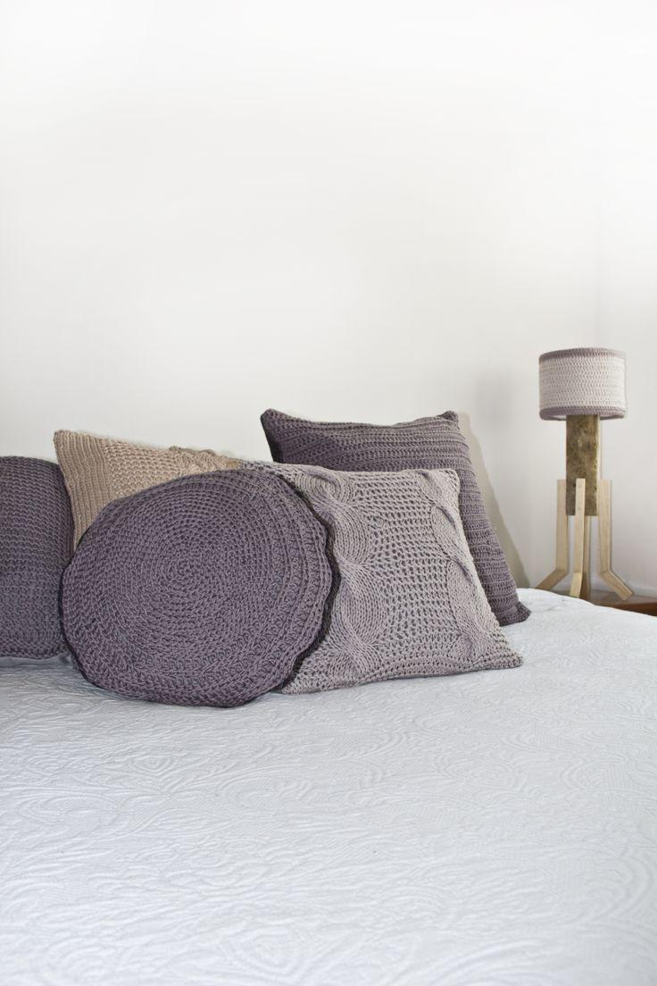 Cojines tejidos a mano crochet cushions by kich dise o - Cojines de diseno ...