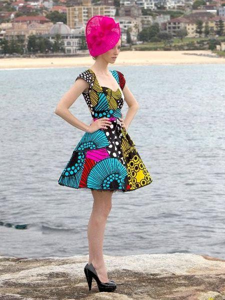 "So cute! ""Australia based clothier, Mackenzie Mode, transforms Marimekko print fabric into beautiful cocktail dresses..."""