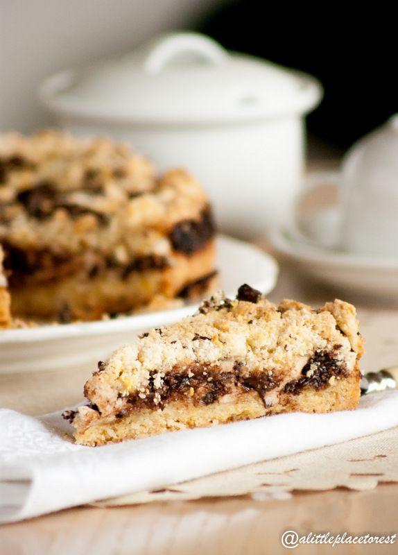 sbrisolona ricotta e cioccolato - ricotta&chocolate crumble tart