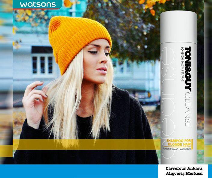 Soğuk havadan sakladığınız saçlarınıza parlaklığını geri kazandırmanın yolu TONI&GUY Sarı Saçlar için Şampuan! Daha fazla çeşit için CarrefourSA Ankara'ya uğrayın! #sac #hair #parlaklik #toniguy #sarisaclaricin #sampuan #watsons #carrefoursaankaraavm