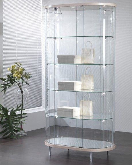 The Elegance Lite Oval Display Showcase is a beautifully crafted oval display cabinet with lighting from Display Cabinets Direct