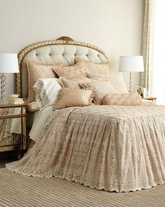 -67PB Sweet Dreams  King Elizabeth Skirted Coverlet Queen Elizabeth Skirted Coverlet King Elizabeth Lace Sham