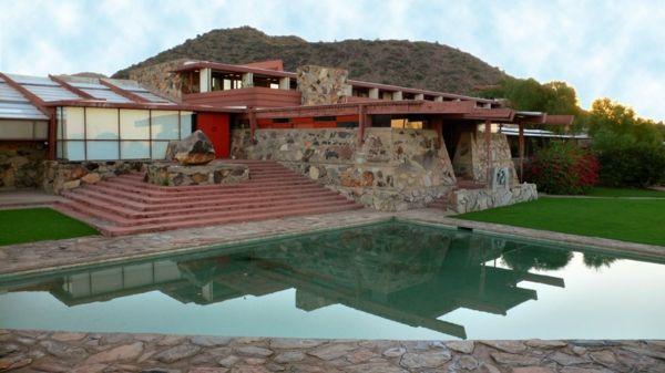 pool eingebaut Organische Architektur umgebung natur