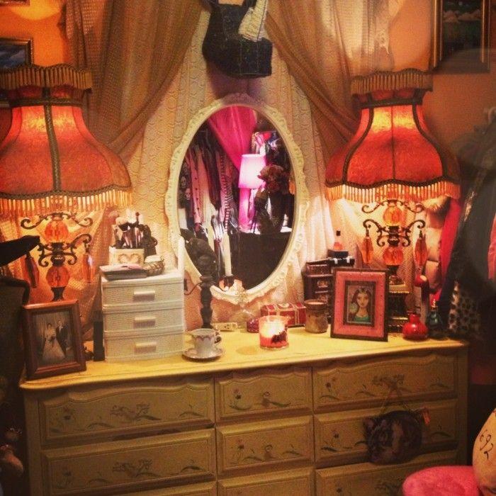 Beleuchtung Wohnzimmer Indirekte Zwei Leuchten Spiegel