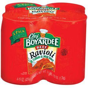 Chef Boyardee: In Tomato & Meat Sauce 15 Oz Beef Ravioli, 4 Ct