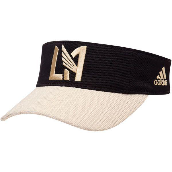8612ad64619d6 Men s LAFC adidas Black Gold Authentic Adjustable Visor