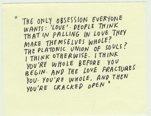 """Philip Roth """" your whole and then your cracked open"""" <3"""