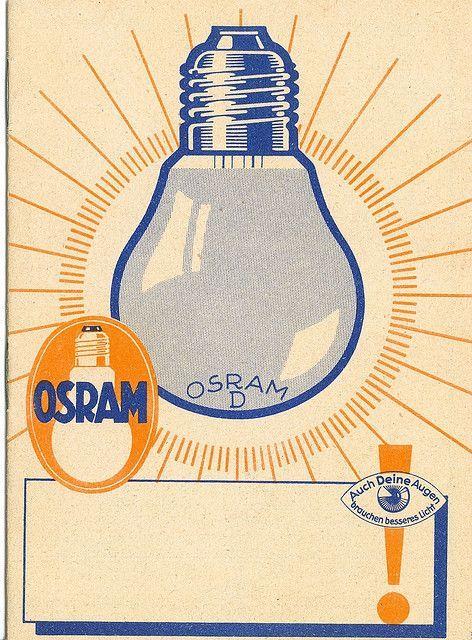 Osram lyspære reklame, circa 1935