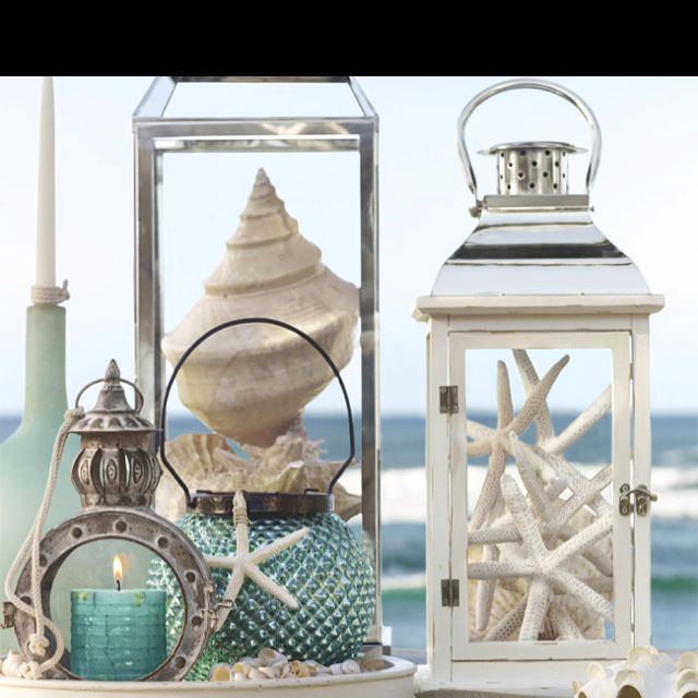 Love the starfish in the lantern