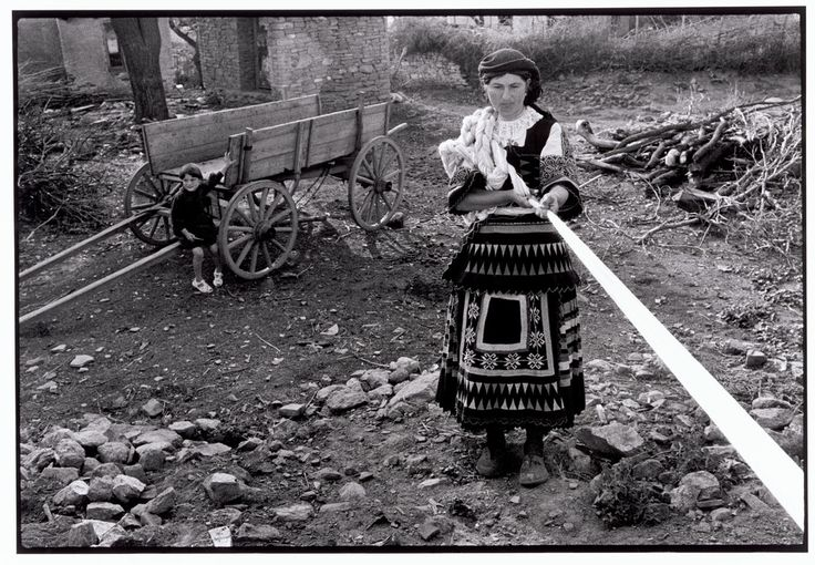 "Greece. Thrace. 1964. Sarakatsani woman skeining yarn. ""A Greek Portfolio"" © Costa Manos/Magnum Photos"
