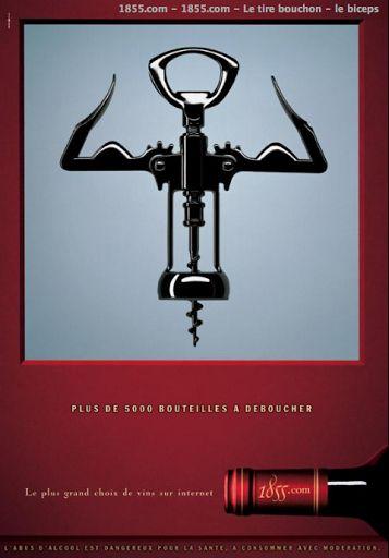 """""""Plus de 5000 bouteilles à déboucher"""" - Les Biceps : publicité pour le site 1855.com, site spécialisé dans la vente de vins - Photographie de Kay Mücke © Agence BDDP & Fils"""