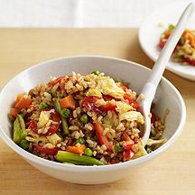 weight watchers - fried rice - this is quick, easy - ingredients on hand and awesome tasting- I added broccoli also - so so good and simple