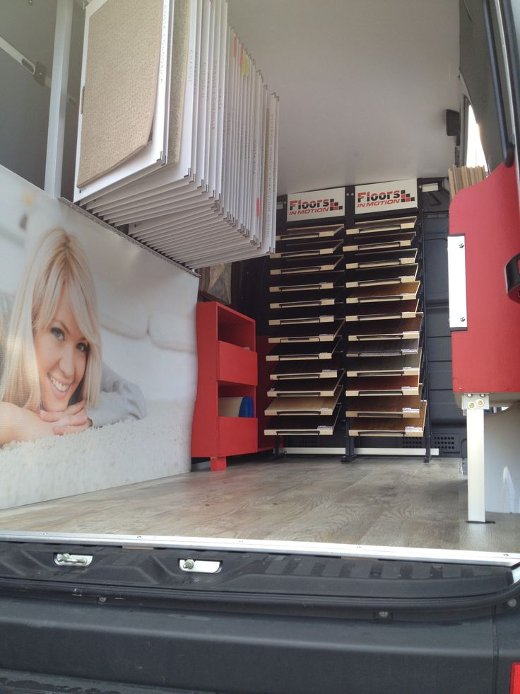 Inside the Floors In Motion Mobile Flooring Showroom.  Book an appointment with us to have us come to your home!   Visit our website: www.floorsinmotion.com to learn more about us. 'Like' our page: www.facebook.com/floorsinmotion to keep informed on special offers and promotions.