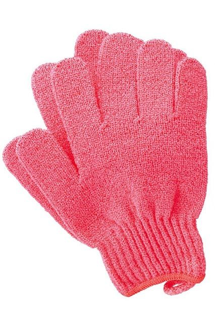Speaking of polish, these mitts look cute and harmless, but they're the BEST for sloughing off dead skin and starting fresh. Immediately after you hop out of the shower, follow with a body oil or cream — the more moisture, the better.