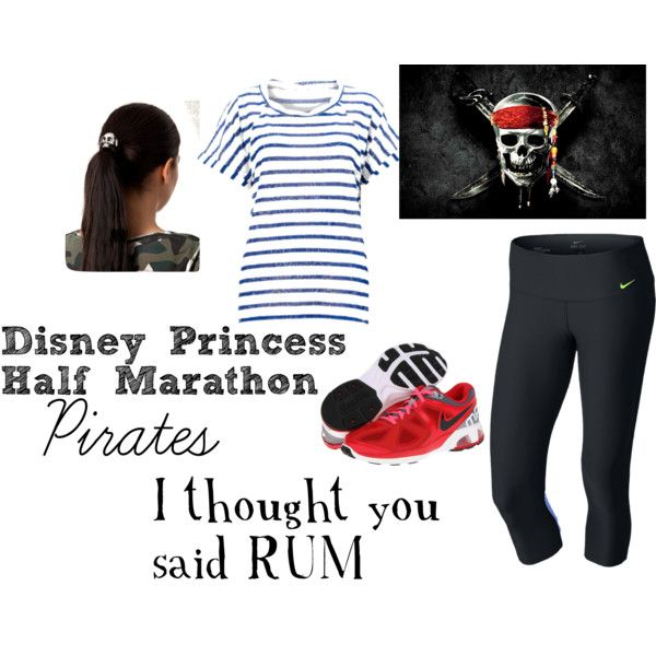 """Disney Princess Half Marathon"" by karaannfuncheon on Polyvore -- ""I thought you said RUM!"""