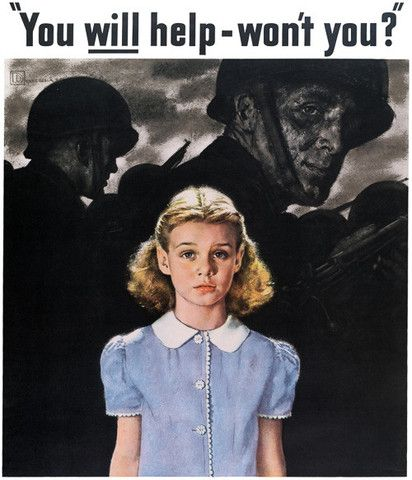 You Will Help -- Won't You? Vintage WWII poster, circa 1940s. Prints from $15. #vintage #wwii