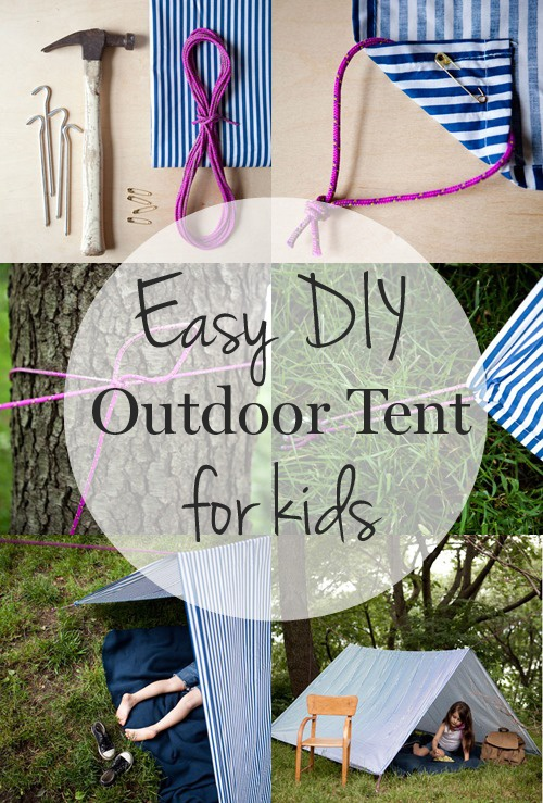 How to make an easy #DIY outdoor tent your kids will love!