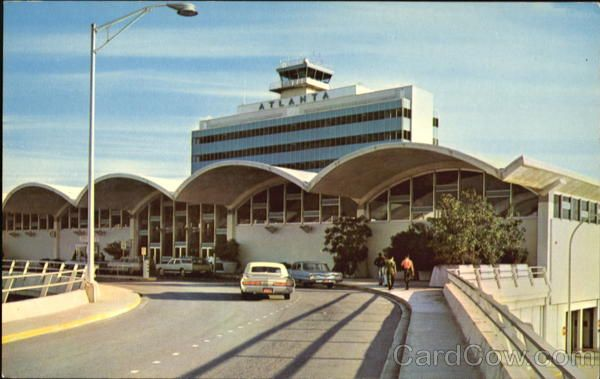 the old atlanta airport a very very far piece from the current massive world 39 s busiest. Black Bedroom Furniture Sets. Home Design Ideas