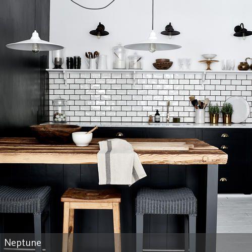 Offene Küchengestaltung: Küchentresen Aus Holz