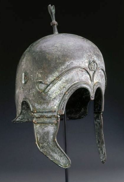 Chalcidian helmet, hellenistic period, 4th-3th century B.C. Private collection, from Christie's auction