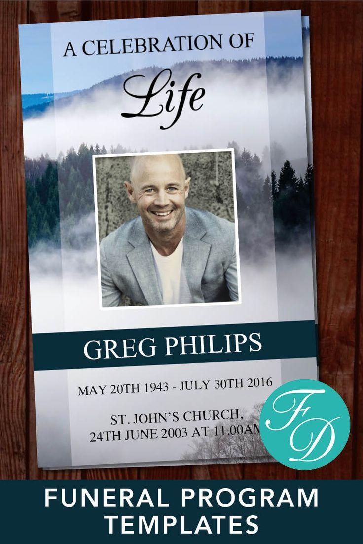 Printable Funeral Program Template Celebration Of Life