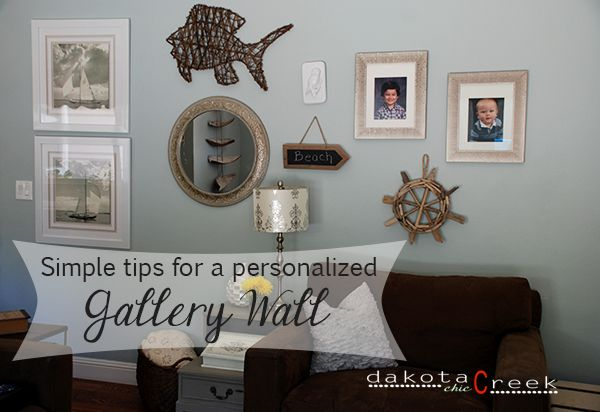 Simple tricks for creating a personalized gallery wall at Dakota Creek Chic