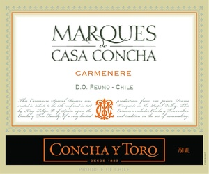 Concha y Toro: Marques Casa Concha Carmenere: Santiago, Chile