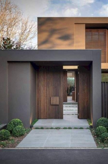 24 New Ideas Modern Front Door Entrance Decor Facade House Exterior House Colors House Exterior
