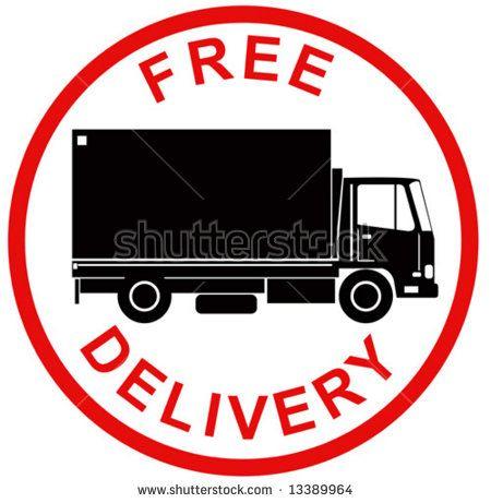 Free delivery symbol  #deliverytruck #silhouette #illustration