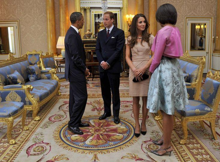 Le prince William et Kate Middleton accueillent le couple Obama à Londres après leur lune de miel