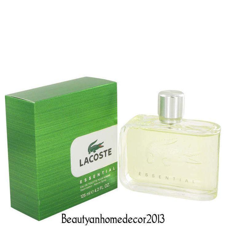 Lacoste Essential by Lacoste 4.2 oz EDT Cologne Spray for Men New in Box #Lacoste