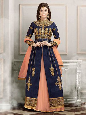 Indian Bollywood Designer Anarkali Dresses Pakistani Ethnic Bridal Wedding Suit