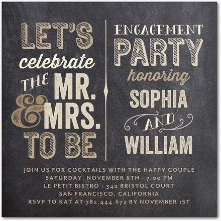 Couple to Be - Signature White Engagement Party Invitations - simplyput by Ashley Woodman - Khaki - Neutral : Front
