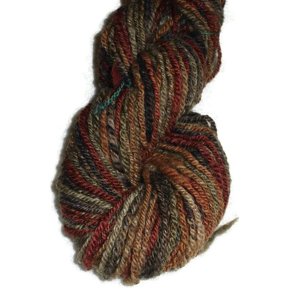 Luxury Handspun Hand Dyed 3-ply Shetland Wool Yarn Worsted EU SELLER