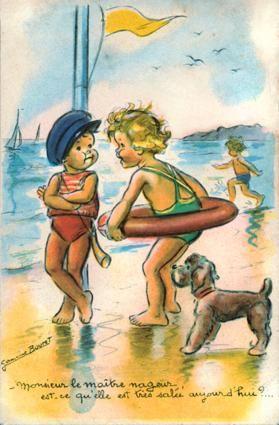 Monsieur le maître-nageur, est-ce qu'elle est très salée aujourd'hui ?