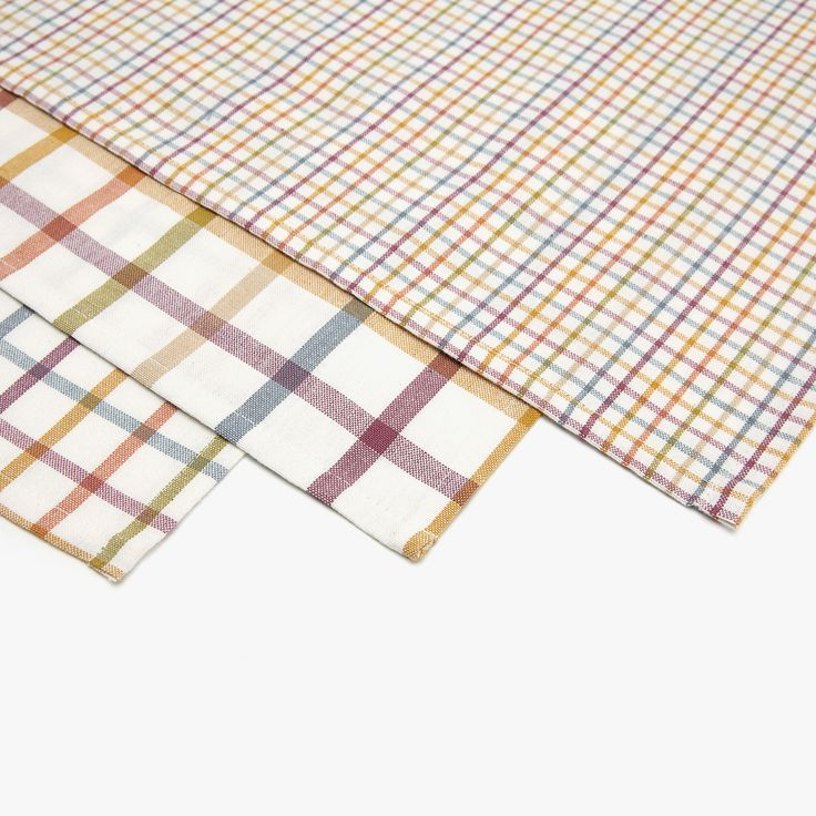 Image 5 of the product MULTICOLOURED CHECKED TEA TOWEL (SET OF 3)