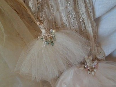 Miniature ballet assemblage art dresses                                                                                                                                                                                 More