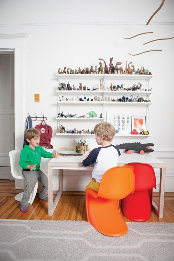 Children's Room | Oh Happy Day - animal shelves! what to do with all of the animals....