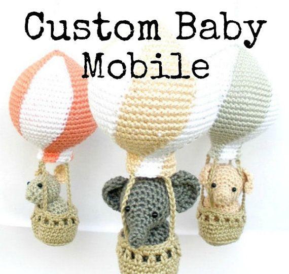 Benutzerdefinierte Baby mobile personalisierte von Crochetonatree