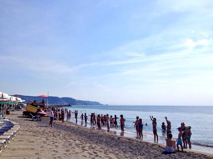 Acquagym at Bagni Virginia! #bagnivirginia #beach #Loano #Liguria #Italy