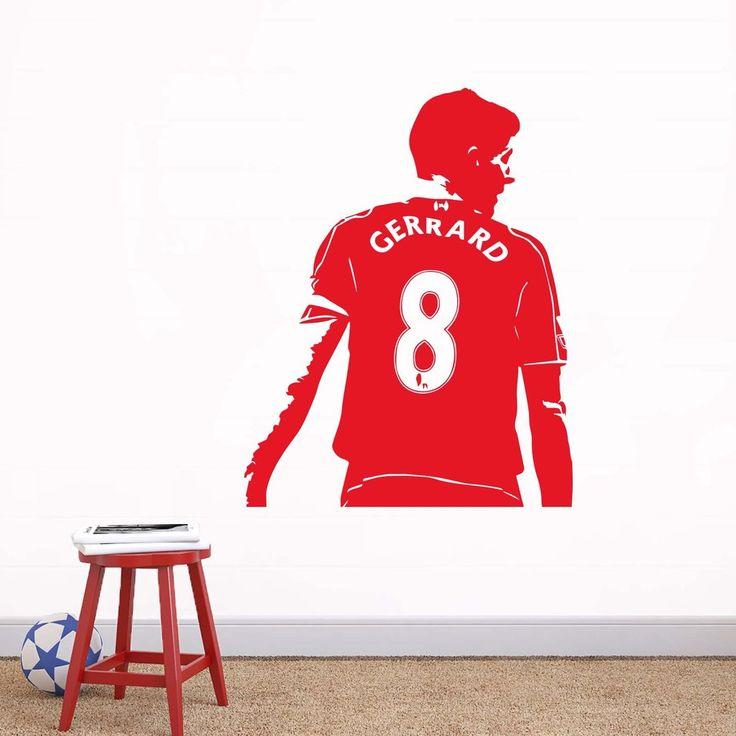 "Liverpool LFC Style ""Steven Gerrard"" Wall Decal"