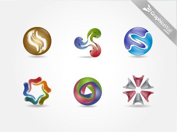 3D Logo Vector Elements - Set 09